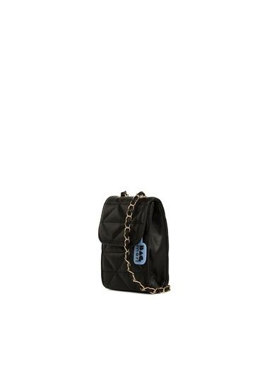 Bagmori  Kadın Üçgen nakışlı Çapraz Çanta M000006126 Siyah